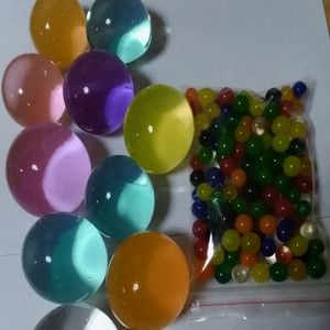 30pcs/lot Water Beads Crystal Soil Bodem Water Kralen Magic Jelly Bal Amber Raw Water Bag Crystal Soil Water Beads Orbeez Balls