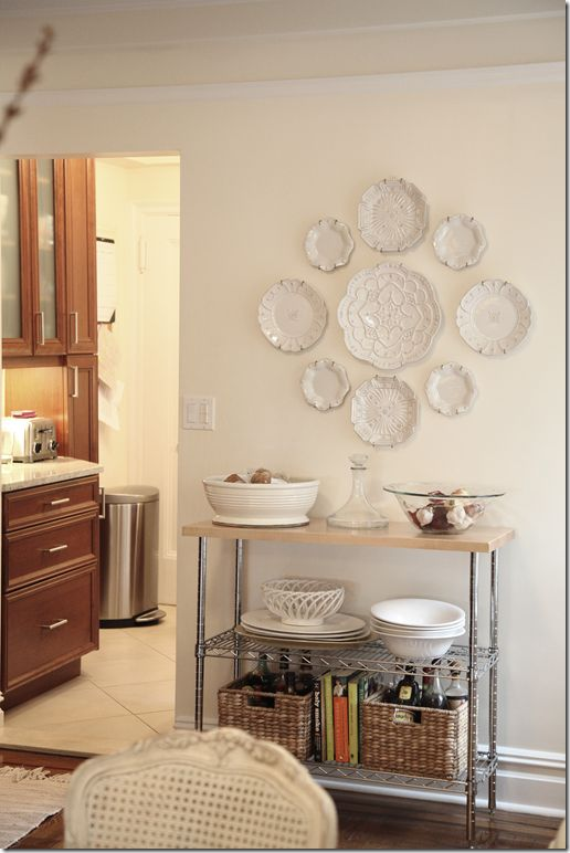 Maybe Something Like This For My Large Kitchen Wall Pinterest Plates On And House
