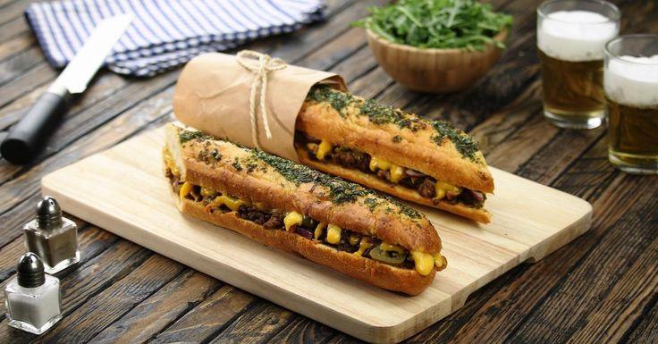 Сэндвич Барбекю: когда французский багет встречает американский соус