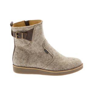 Light Grey Women Ankle Boot-- Wool felt shoes