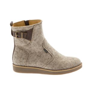 Light Grey Women Ankle Boot-- Wool felt shoes