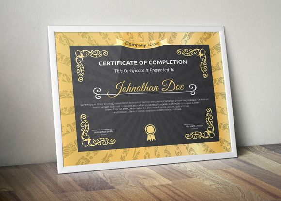 Certificate by Todorovic Designs on @creativemarket