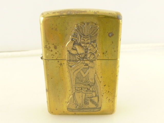 Indian Chief Cigar Store Indian Brass Zippo 1996 E XII Cigarette Lighter SEALED