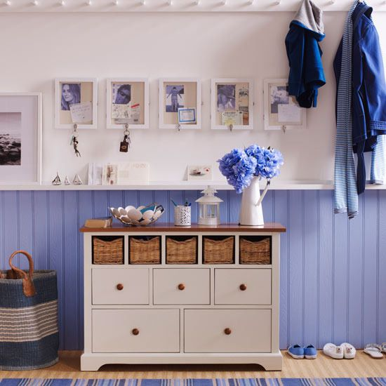 Sea Inspired Coastal Hallways Ideas *will do for my another room! love the colors!*