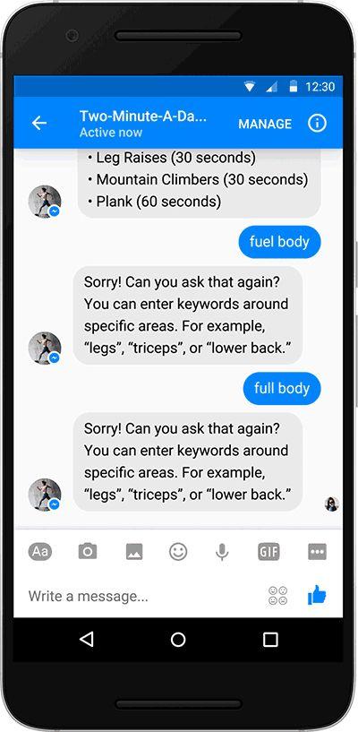 Verwaltung und Bewertung eines Messenger Bots