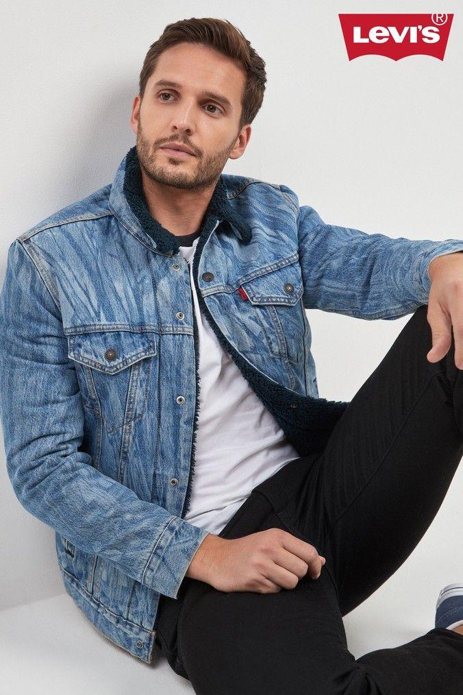 Mens Levi's x Justin Timberlake Camo Trucker Jacket Blue