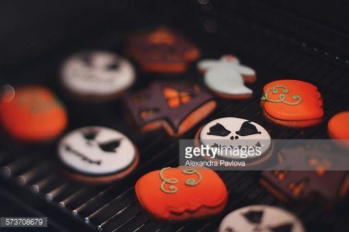 Stock Photo : Halloween cookies