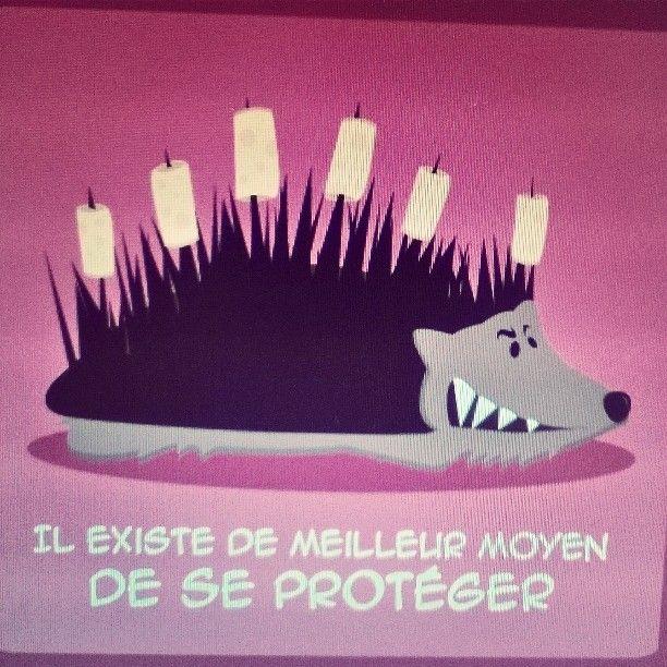 """"""" Il existe de meilleur moyen de se protéger """" création du jour pour un habillage de préservatif je vous réserve une belle série sur le même thème... #protegetoi #hérisson #dessin #préservatifs #habillage #graphic #bouchon #humournoir"""