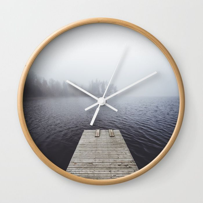 Fading into the mist Wall Clock by happymelvin
