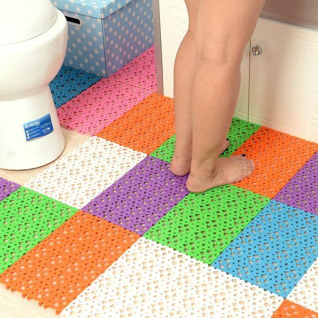 Candy Colors Plastic Bath Mats Easy Bathroom Massage Carpet Shower Room Rubber Non Slip Mat Tapis Salle De Ba Bathroom Floor Mat Bathroom Mats Plastic Bath Mat