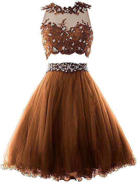 super popular af551 b9135 Beonddress Damen Elegant Zwei Stück Abendkleid Rundhals ...