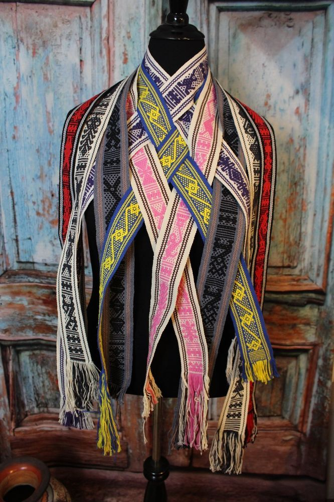 Mexican Belts Hand Woven Jalieza Oaxaca Perfect for Kaftans Huipils Beach Covers