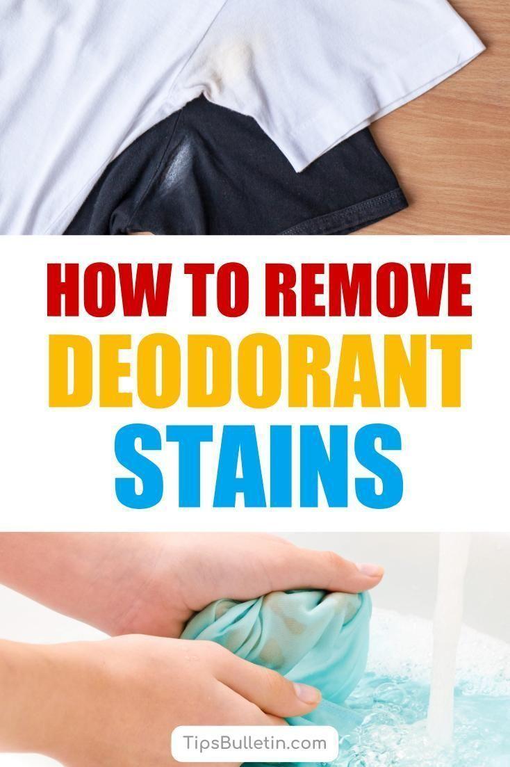 5 Super Simple Ways To Remove Deodorant Stains Remove Deodorant