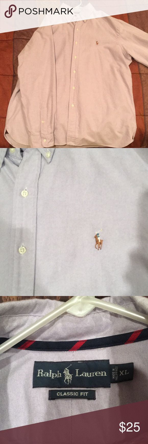 Polo by Ralph Lauren button down shirt For sale is a light purple, classic fit Ralph Lauren Polo button down shirt. This item is in perfect condition has only been worn a handful of times. Polo by Ralph Lauren Shirts Casual Button Down Shirts