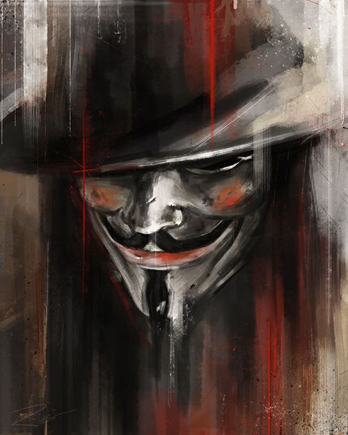 V for Vendetta by Robert Bruno http://www.robertbrunoillustration.com/