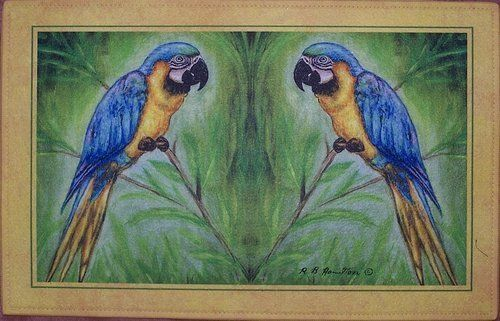 """Betsy Drake DM032G Macaws 30""""x50"""" Door Mat by Betsy Drake. $68.00. Manufactured to the Highest Quality Available.. Great Gift Idea.. Design is stylish and innovative. Satisfaction Ensured.. These floor mats are made of synthetic washable material that will stand up to years of wear with a non-slip rubber backing. Measures 30""""x50"""".. Save 23% Off!"""