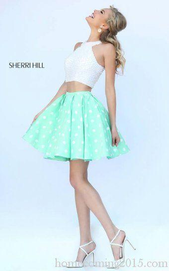 Mint Sherri Hill 32244 Pearl Short Homecoming Dress 2015
