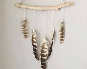 Decoración Bohemia o gitana decoración pluma por handmadebyfofo
