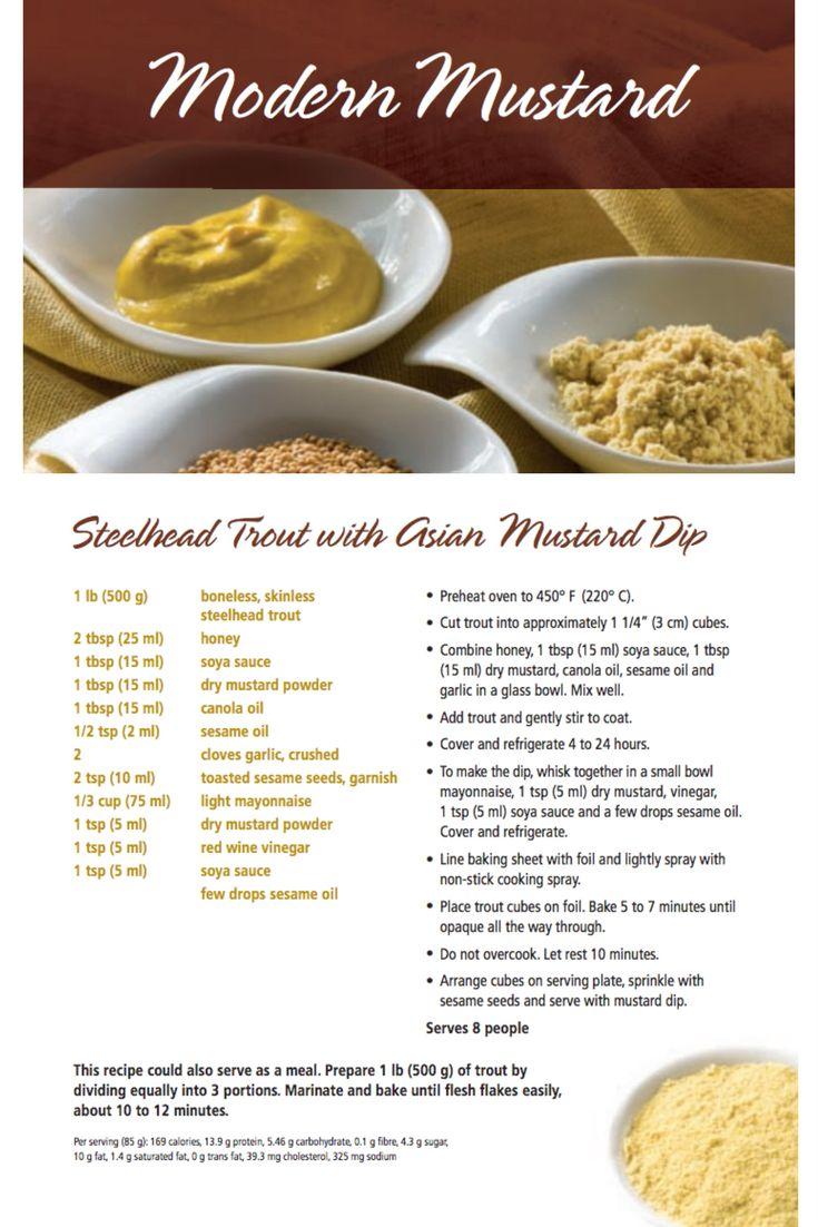 Steelhead Trout with Asian Mustard Dip | Modern Mustard