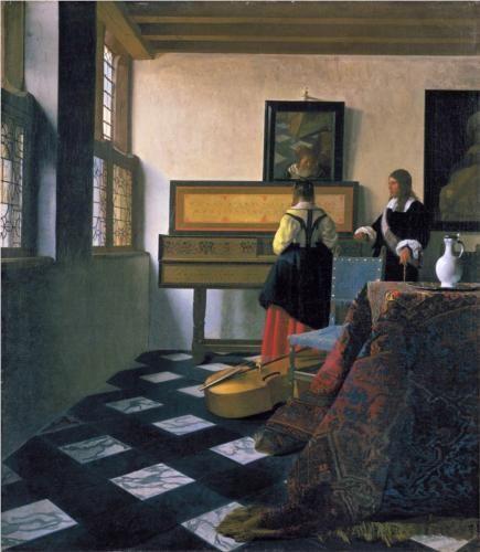 The music lesson - Johannes Vermeer