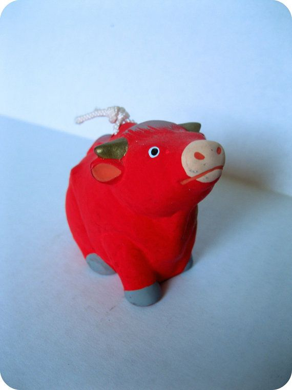 JAPANESE VINTAGE HandCrafted Clay Cow Bell