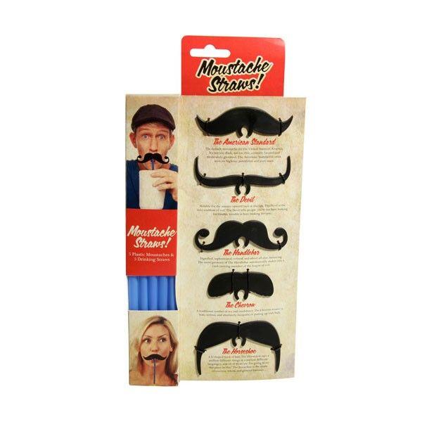 Wąsate słomki / Moustache Straws.
