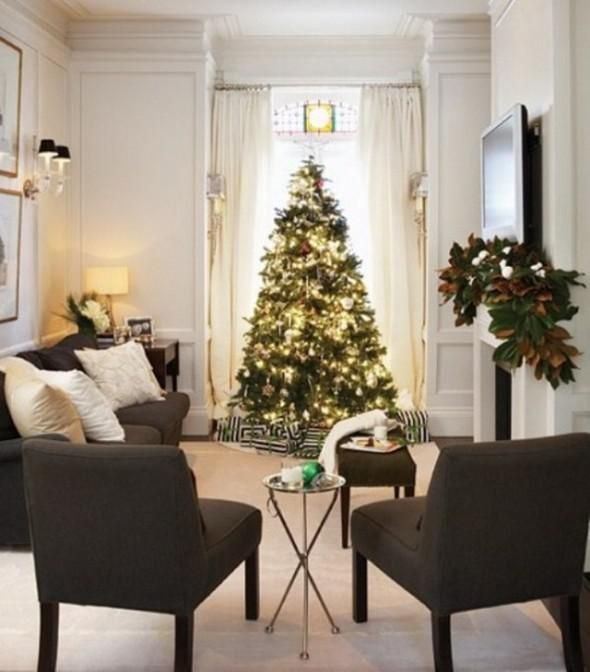 Decorating Modern Home Decor Online Gold Christmas Rustic Decorations 590x672 Tree