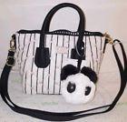 ❤☼ Luv Betsey Dome #satchel #black /white quilt Crossbody pink hearts #handbag Ends Soon http://j.mp/2xf8dsu