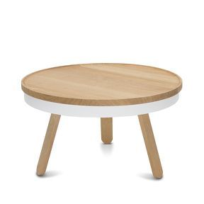 Table basse Batea Chêne/Blanc M - Woodendot