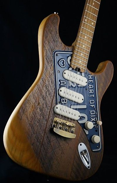 """Dismal Ax Guitars Road Dog """"63 Heart of Dixie"""" Salvaged Woods 