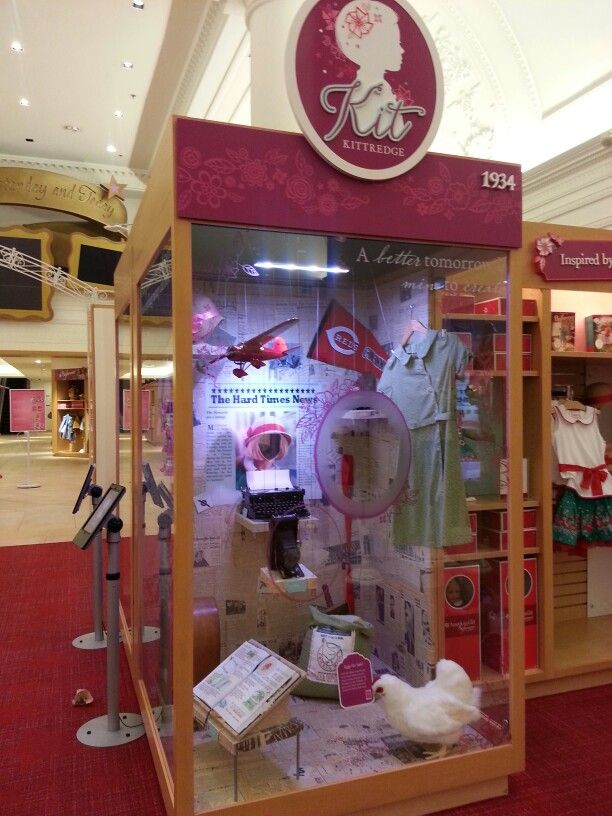 Image result for American girl doll store chicago kit display