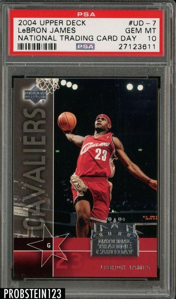 f67347d4e94 2004 Upper Deck National Trading Card Day LeBron James Cavaliers PSA 10   LeBronJames  PSA10  sportscards