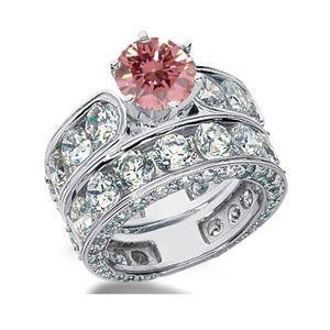 8.75 Karat Pink Diamant Ring aus 585er Weißgold. Ein Diamantring aus der Kollektion Pink von www.pearlgem.de