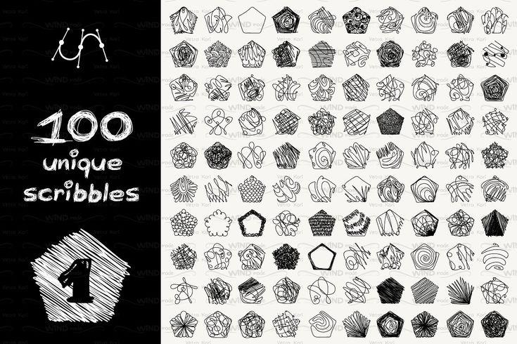 vector geometric scribbles SET1 Business newsletter