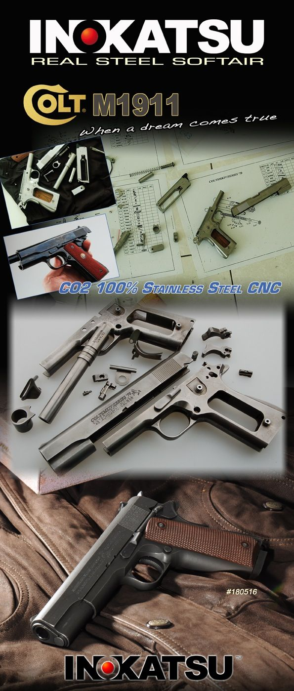 Colt #M1911 CO2 by Inokatsu pour Cybergun #airsoft Find our speedloader now! http://www.amazon.com/shops/raeind