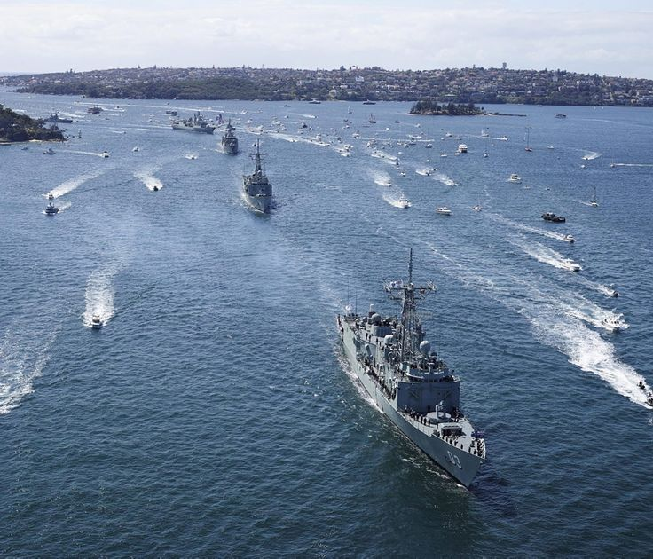 National and international warships enter Sydney Harbour for the IFR.