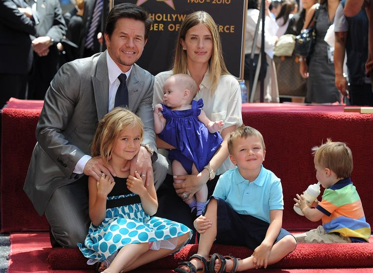 Mark Wahlberg & wife Rhea Durham, w/ children Ella Rae, Grace Margaret, Michael & Brendan in July 2010.