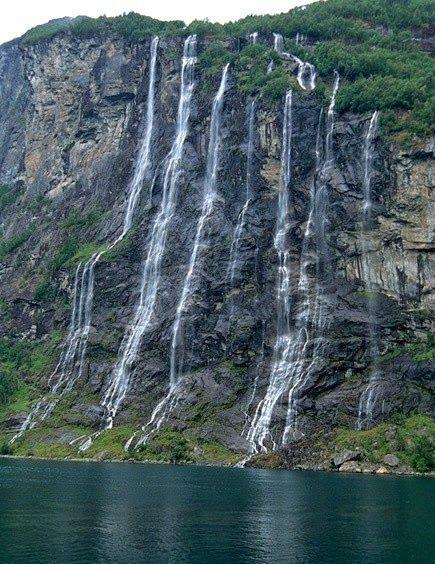 Amazing Waterfalls - Seven Sisters Waterfall - Norway