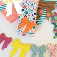 Origami strik vouwen