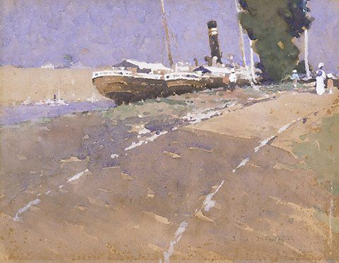 Brisbane River, (1908) by J J Hilder :: The Collection :: Art Gallery NSW