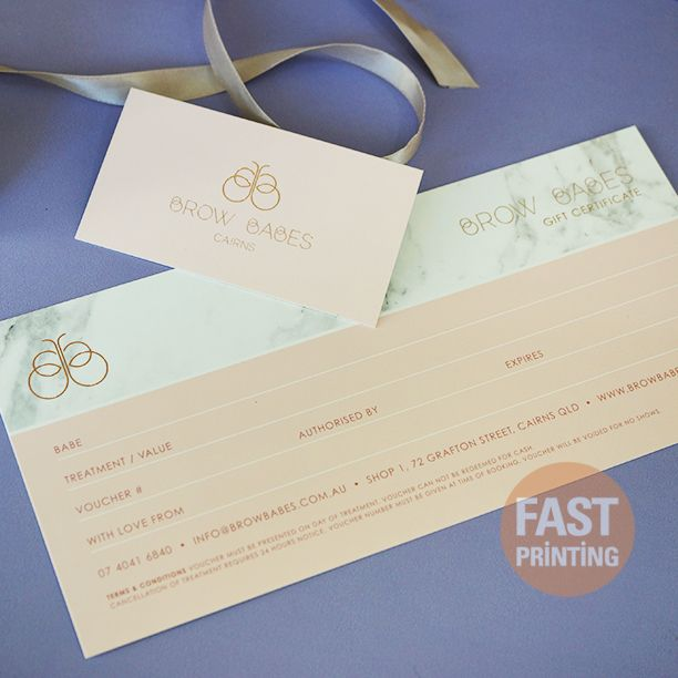 Gift Voucher + Business Card Set #voucher #printing #businesscard #fastprinting #FP