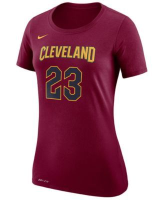Nike Women's LeBron James Cleveland Cavaliers Name & Number Player T-Shirt - Red XXL