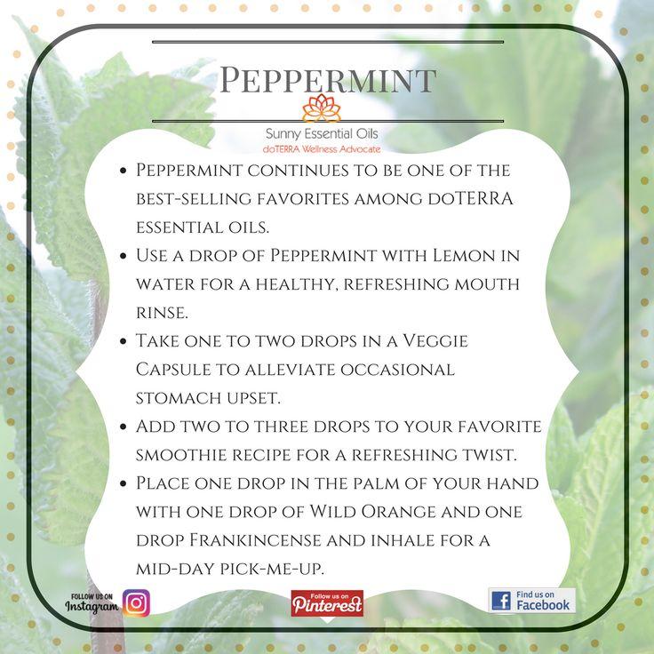 Peppermint Essential Oil Facebook: https://www.facebook.com/sunnyessentialoils/   Instagram: @sunnyessentialoils