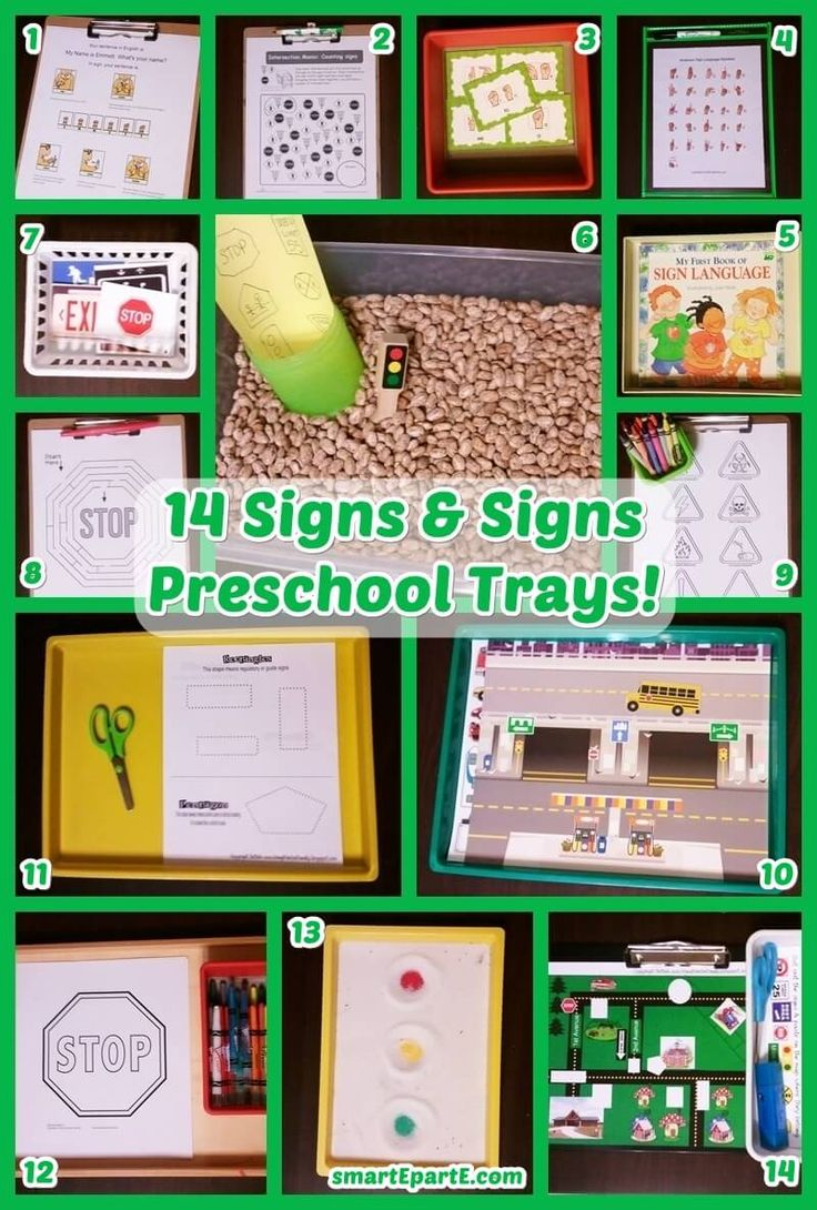 Wanting an inspiring week of school, we decided to combine signs with sign language. Enjoy free printables we've found and other ideas for Signs & Sign Language Preschool!