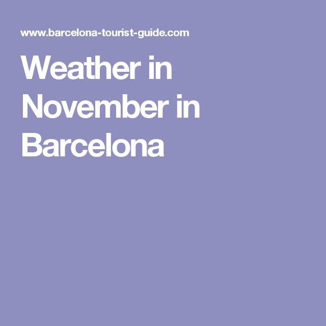 Weather in November in Barcelona