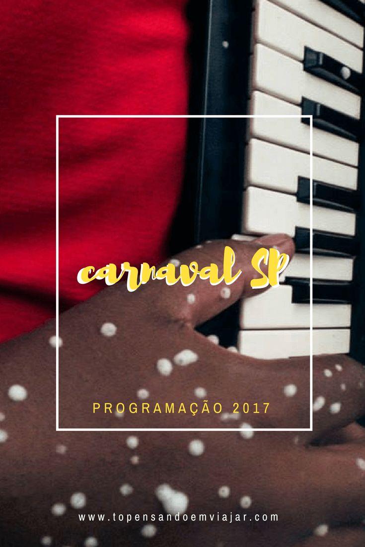 Que tal curtir o Carnaval SP 2017 com essa programação com os melhores blocos de carnaval de rua da cidade?! :)!