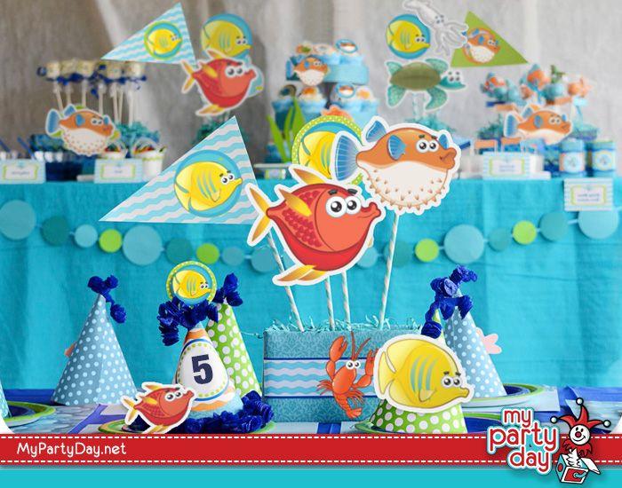 Printables for a under the sea party / Imprimible para una fiesta bajo el mar