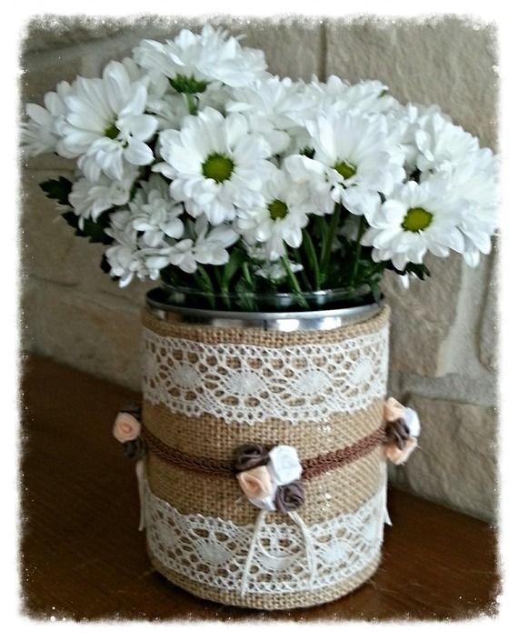 les 25 meilleures id es de la cat gorie bocaux toile de jute sur pinterest vases rustiques. Black Bedroom Furniture Sets. Home Design Ideas