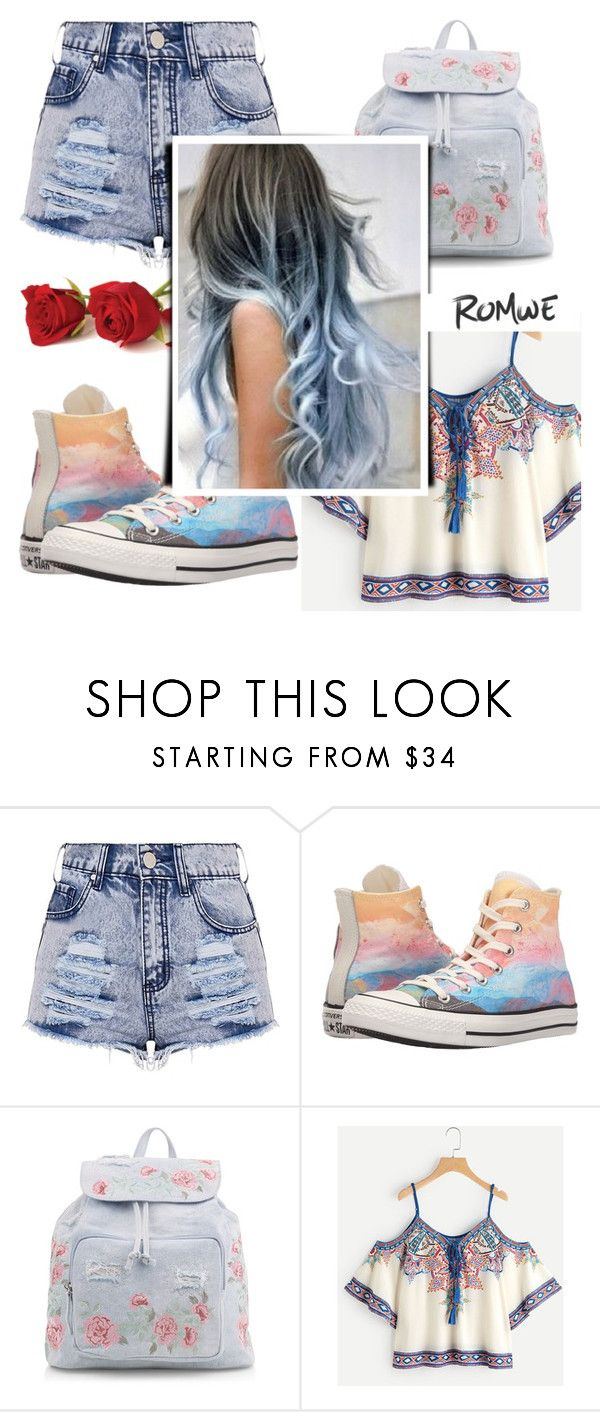 """""""Flowery Outfit"""" by roseforbes ❤ liked on Polyvore featuring Converse and New Look"""