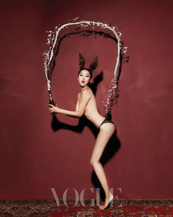 """The Perfect Match""   Model: Jangyunju, Photographer: Ohjungseok, Vogue Korea, January 2011"